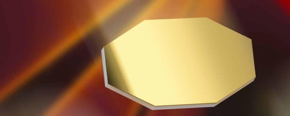 metallspiegel gold